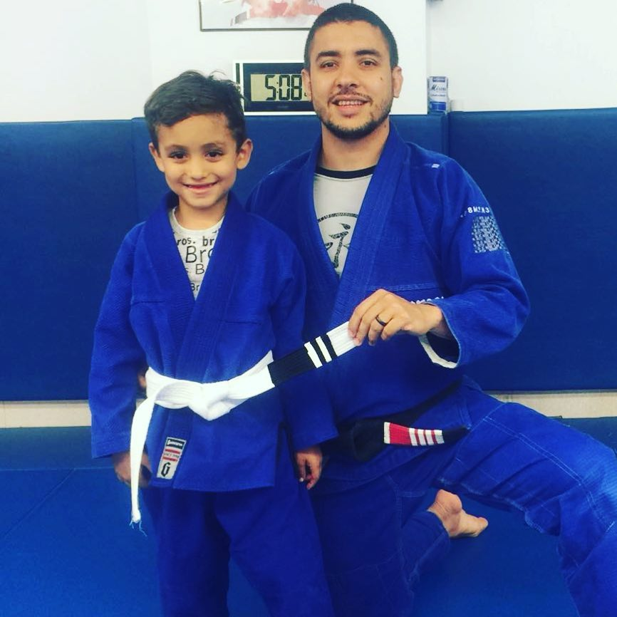 Young Student getting belt promotion at Lifestyle MMA